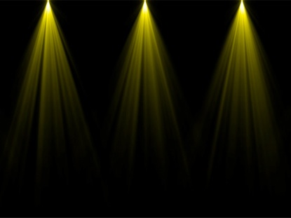 STAGE LIGHTS YELLOW STRAIGHT
