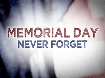 MEMORIAL DAY NEVER FORGET LOOP