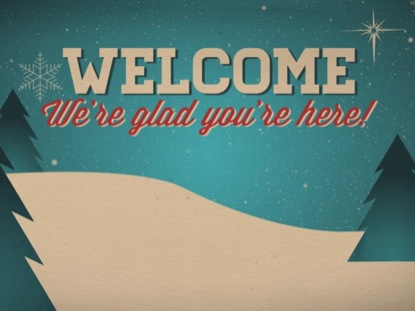 CHRISTMAS WELCOME VINTAGE