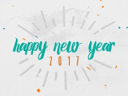 COLORFUL CONFETTI HAPPY NEW YEAR