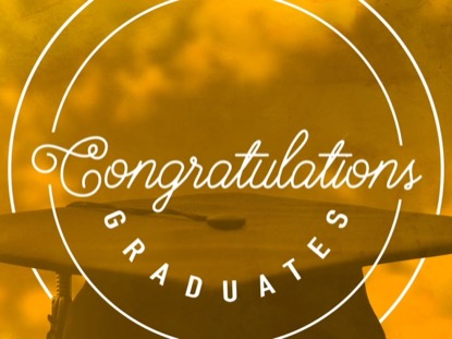 CONGRATULATIONS GRADUATES TITLE ORANGE