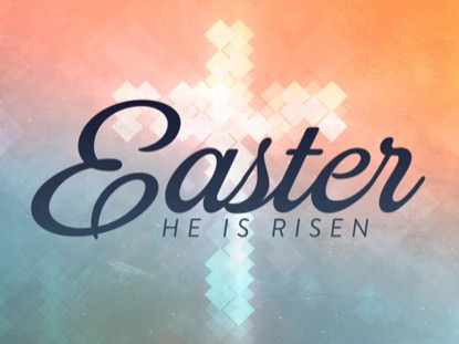 CROSS SHAPES EASTER TITLE