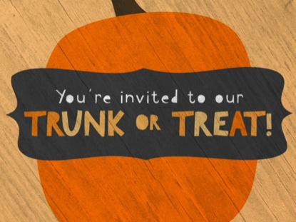 CUTE FALL TRUNK OR TREAT INVITE