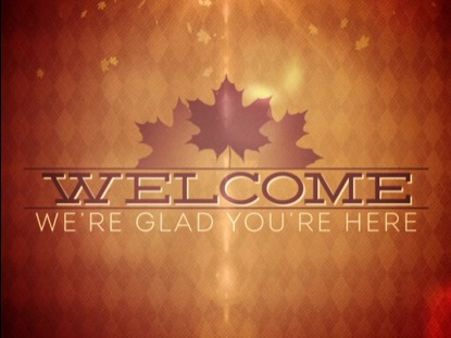 FALL BOKEH WELCOME