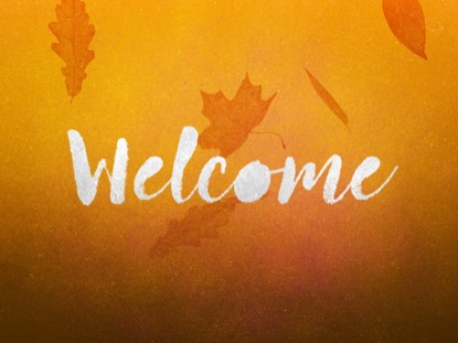 PAINTED AUTUMN WELCOME