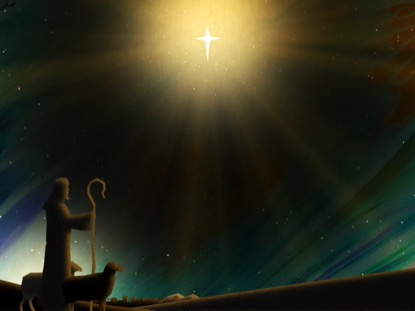 PAINTED CHRISTMAS SHEPHERDS