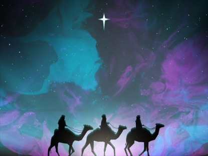 PAINTED CHRISTMAS WISE MEN