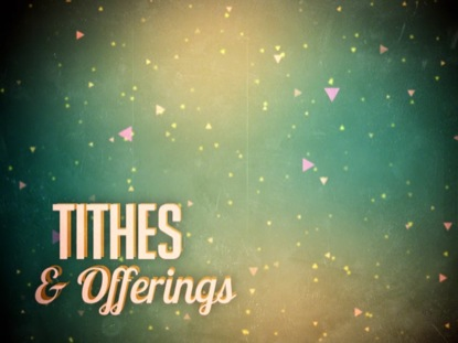 RETRO GREEN TITHES & OFFERINGS