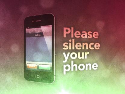 SILENCE YOUR PHONE VINTAGE LOOP