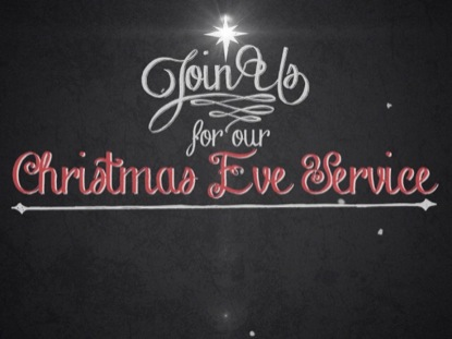 VINTAGE CHRISTMAS EVE INVITE TITLE