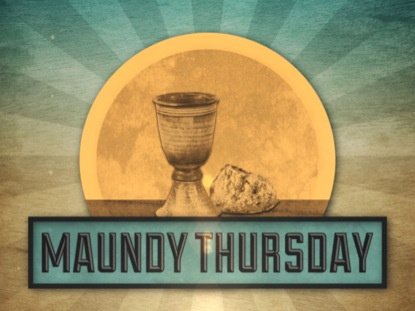 VINTAGE MAUNDY THURSDAY TITLE