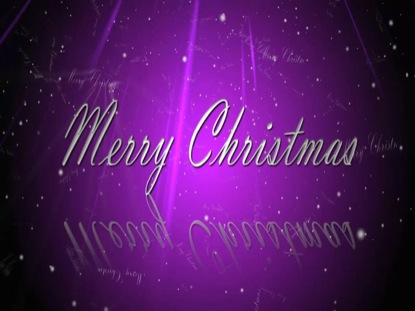Merry Christmas Purple | CORVIDEO | WorshipHouse Media