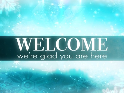 Snowy Winter Welcome Creation Power Media Worshiphouse