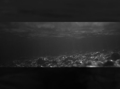 BLACK AND WHITE PANORAMIC RIVER