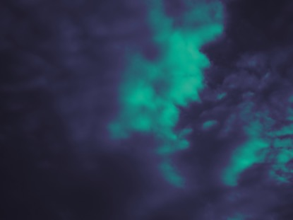 PURPLE AND TEAL CLOUDS