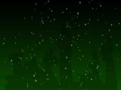 NATIVITY AND STARS GREEN