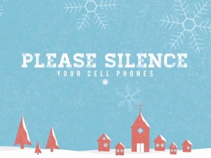 SNOWY VILLAGE CELL PHONES DAYTIME