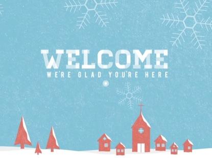 SNOWY VILLAGE WELCOME DAYTIME