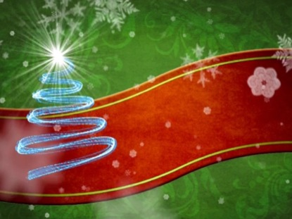 CHRISTMAS RED RIBBON MOTION