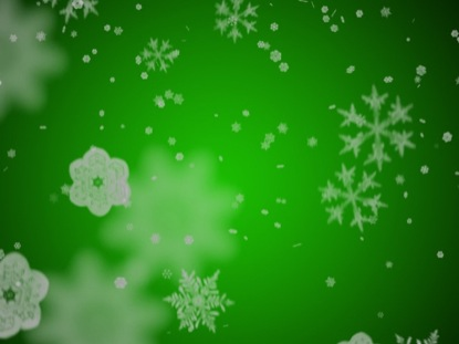 SNOWFLAKES ON CHRISTMAS GREEN MOTION