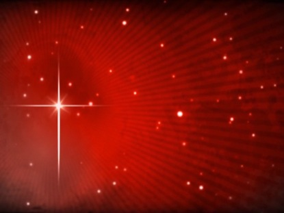 STAR OF BETHLEHEM ON FIERY RED MOTION