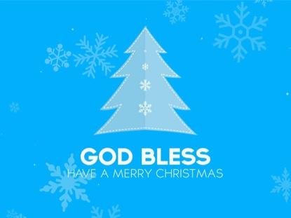 CHRISTMAS SNOW GODBLESS