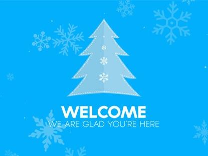 CHRISTMAS SNOW WELCOME
