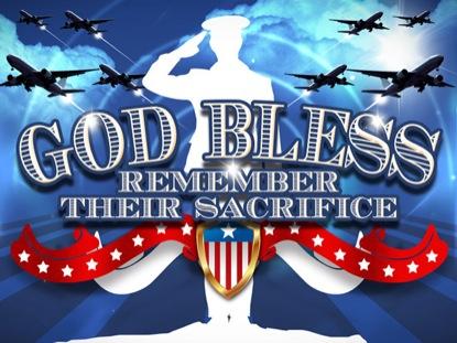 MEMORIAL DAY GOD BLESS LOOP