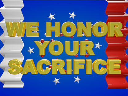 WE HONOR YOUR SACRIFICE MOTION LOOP