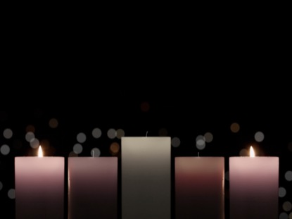 ADVENT CANDLELIGHT LOVE CANDLES