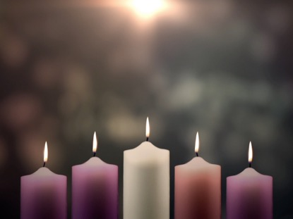ADVENT CANDLES CHRIST CANDLE