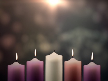 ADVENT CANDLES PEACE WEEK 4