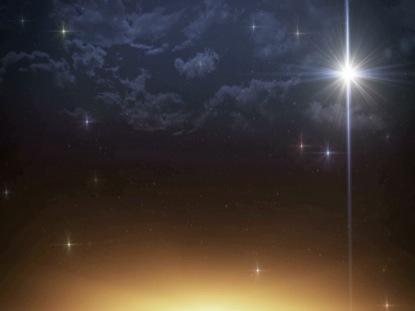 BETHLEHEM CHRISTMAS STAR RIGHT SKY