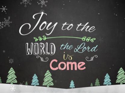 CHRISTMAS CHALK KIDS JOY