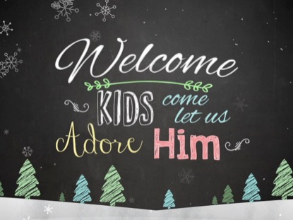 CHRISTMAS CHALK KIDS WELCOME