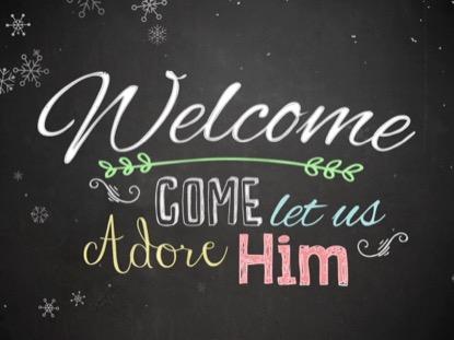 CHRISTMAS CHALK WELCOME
