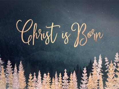 CHRISTMAS SPARKLE CHRIST IS BORN