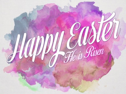 EASTER WATERCOLOR HAPPY EASTER