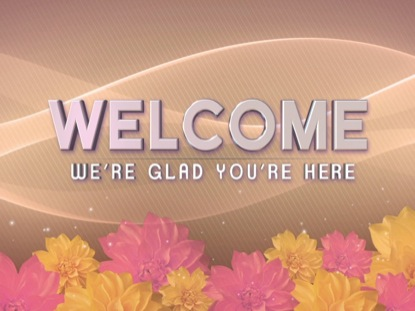 MOTHER'S DAY FLOWERS WELCOME STATIC