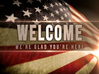 PATRIOTIC WELCOME STATIC