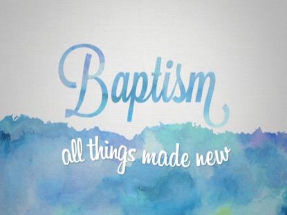 SPRING WATERCOLOR BAPTISM