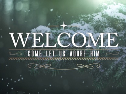 WINTER WOODS CHRISTMAS WELCOME