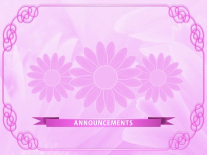 PINK FLORAL ANNOUNCEMENTS