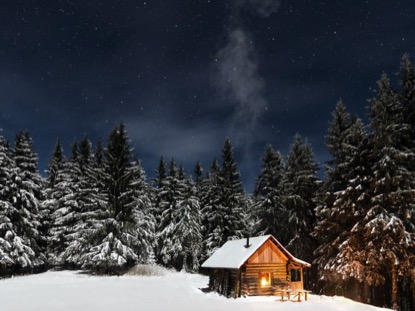 RUSTIC WINTER CABIN