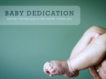 BABY DEDICATION FEET