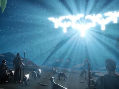 BETHLEHEM NIGHT SHEPHERDS ANGELS