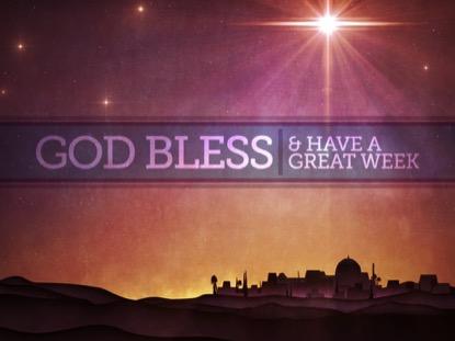 BETHLEHEM STAR GOD BLESS
