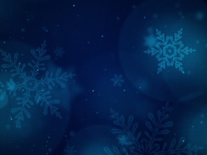 CHRISTMAS GLOW SNOWFLAKES BLUE SLOW