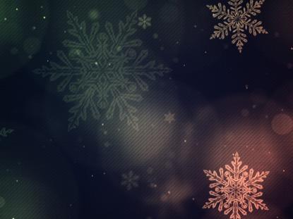 CHRISTMAS GLOW SNOWFLAKES SLOW