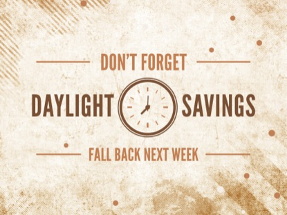 DAYLIGHT SAVINGS FALL GRUNGE